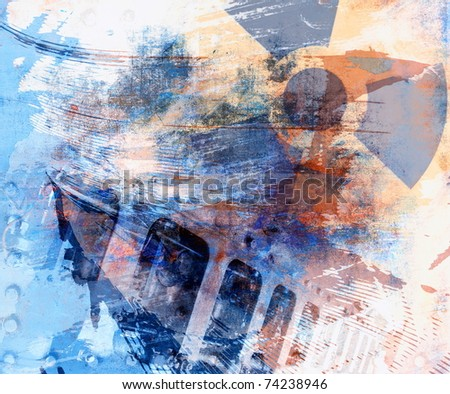 Industrial grunge color background - stock photo