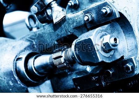 Industrial heavy engineering machine. Industry concept