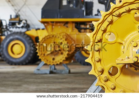 industrial heavy machinery assembling workshop on production line manufacturing factory