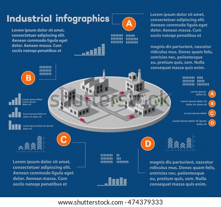 Industrial infographics city