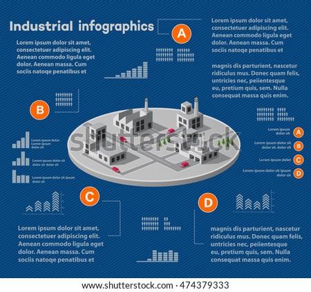 Industrial infographics city