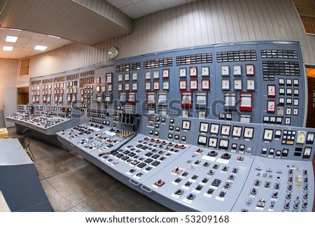 Industrial interior with remote power