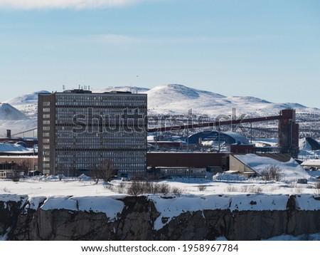 industrial iron ore mine in kiruna northern sweden Foto d'archivio ©