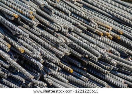 Industrial iron rebar #1221223615