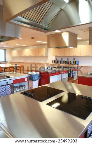 industrial kitchen in  college