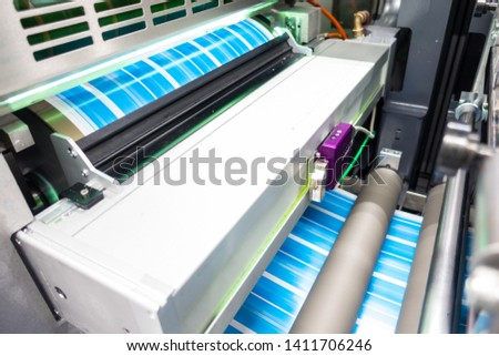 Industrial Label Printing Equipment Closeup Detail