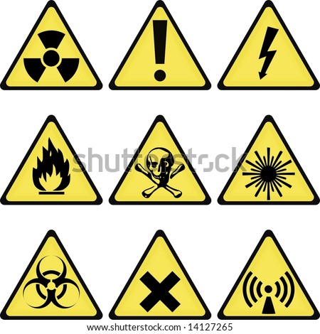 industrial laboratory warning signs collection
