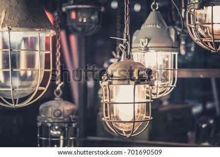industrial lamps, hanging lights , factory light bulbs
