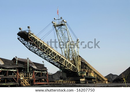 Industrial Loader used to Load Coal for Transport