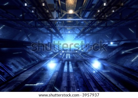 Industrial looking 3d structure - stock photo