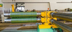 Industrial machine for steel coils cut.