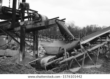 Industrial machinery at a concrete facility.