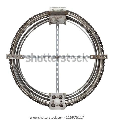 Industrial metal alphabet letter O