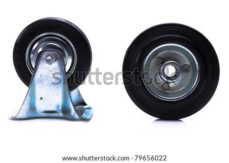 Industrial metal and plastic wheel