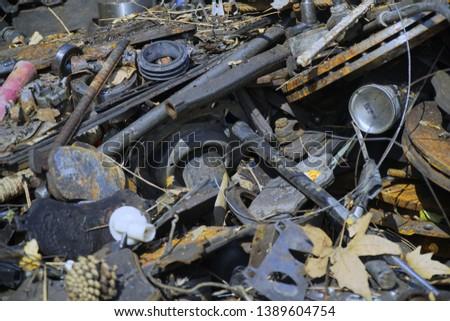 industrial metal trash sending to recycle #1389604754