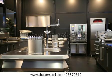 industrial new kitchen
