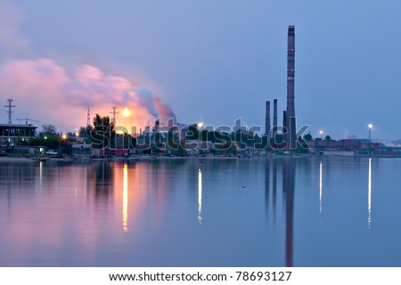industrial night view