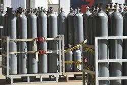 Industrial Nitrogen cylinders in group