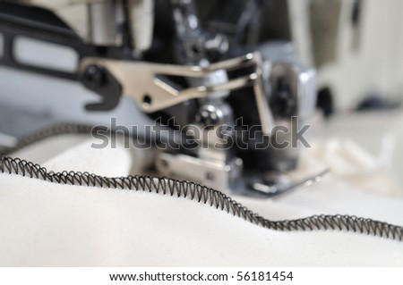 Industrial overlocker sewing machine - a series of TAILOR related images.