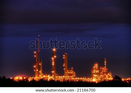 Industrial Park in Twilight