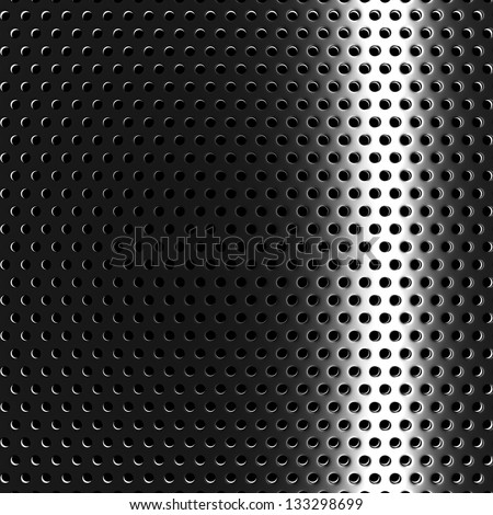 Industrial Perforated Steel Mesh Structure background on black with ...