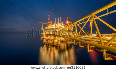 Industrial petroleum production and exploration business,Offshore oil rig drilling platform in the gulf of Thailand,Process platform for production oil and gas.