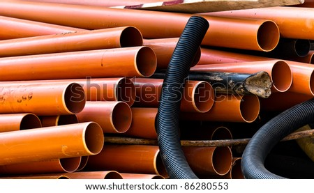 Industrial pipes ready to be planted under your city