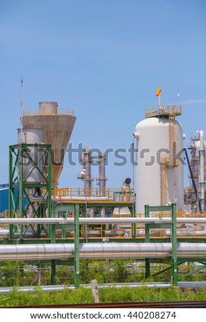 Industrial plant with blue sky #440208274