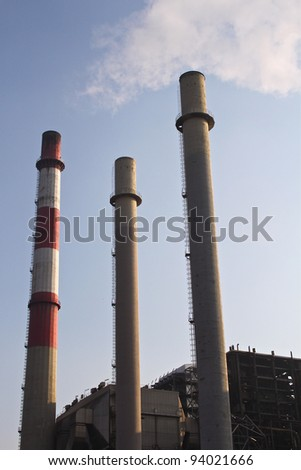 Industrial pollution from an old thermal power plant