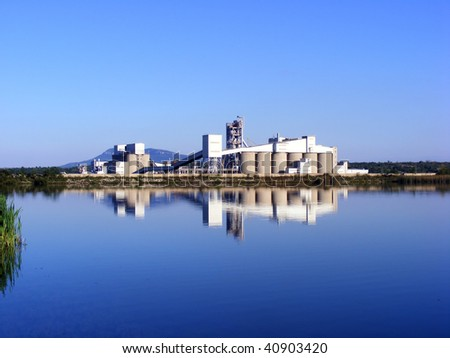 Industrial power plant and the nature - eco concept