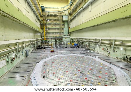 Industrial premises, hall of the nuclear reactor.. Nuclear power plant.