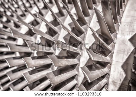 industrial production metallic turbine background