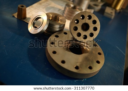Industrial production . Turning works . Manufacturing of parts. Details .