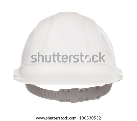 Industrial safety helmet front view