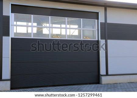 Industrial sectional door #1257299461