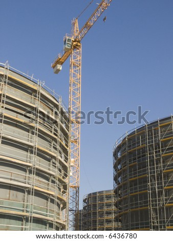 industrial site for big gas containers