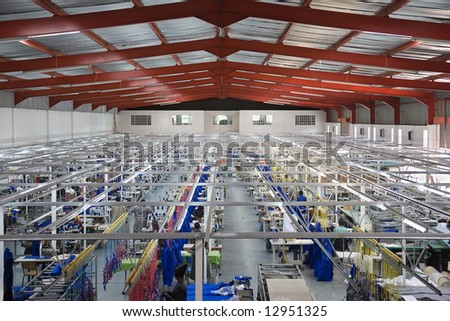 Industrial Size Textile Factory In Africa African Workers