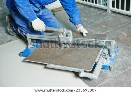 Free Photos Tile Cutting Worker Working With Floor Tile Cutting