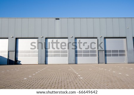 Industrial Unit with roller shutter doors