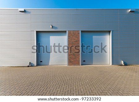 industrial unit with two roller doors