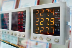 Industrial voltmeters for electric circuits