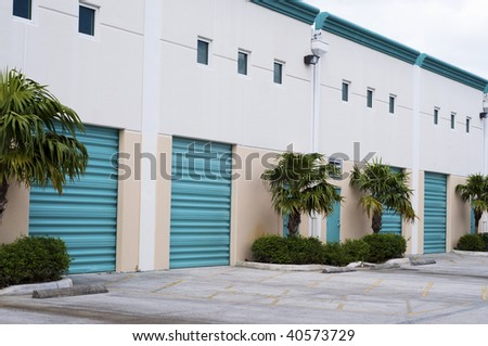 Industrial Warehouse Complex - stock photo