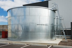 industrial water tank for fire fighting