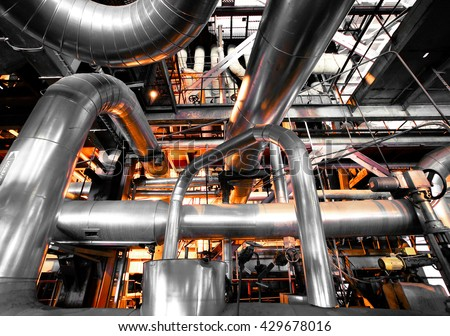 Industrial zone, Steel pipelines and equipment #429678016