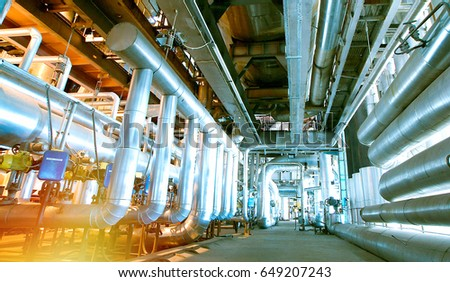 Industrial zone, Steel pipelines and valves #649207243