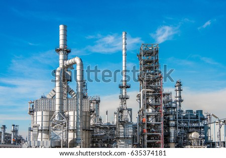 Industrial zone,The equipment of oil refining,Close-up of industrial pipelines of an oil-refinery plant,Detail of oil pipeline with valves in large oil refinery. #635374181