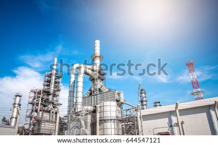 Industrial zone,The equipment of oil refining,Close-up of industrial pipelines of an oil-refinery plant,Detail of oil pipeline with valves in large oil refinery. #644547121