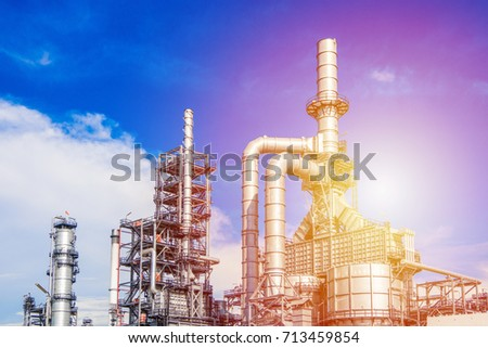 Industrial zone,The equipment of oil refining,Close-up of industrial pipelines of an oil-refinery plant,Detail of oil pipeline with valves in large oil refinery. #713459854