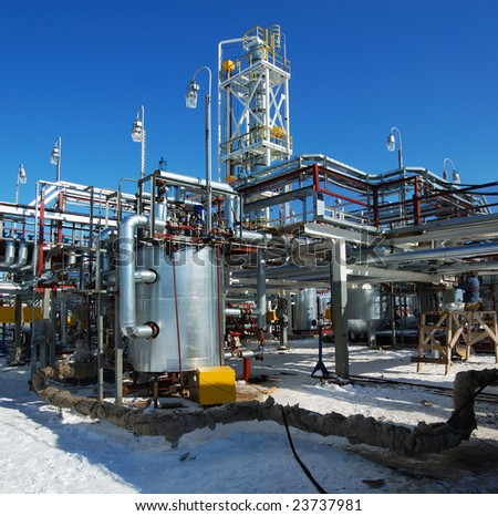 Industrial zone. The newest equipment of oil refining #23737981