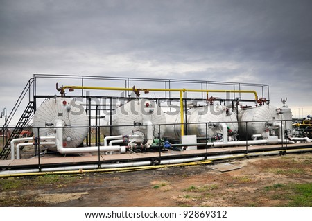 Industries of gas refining